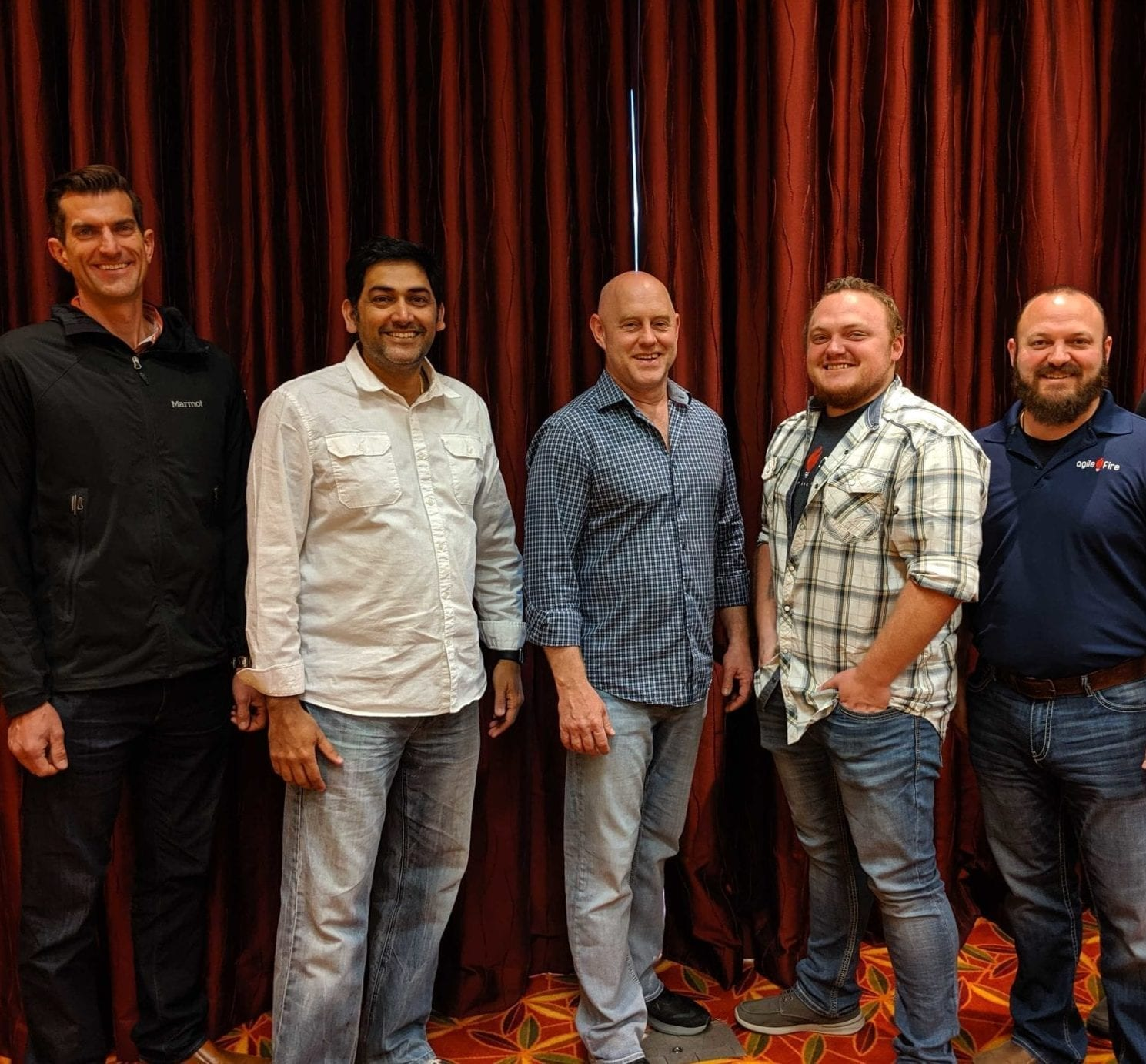 AgileFire team of coaches Bob Ternes, Ramesh Nori, Ian Merwin, Tristan Aragon, Joshua Aragon