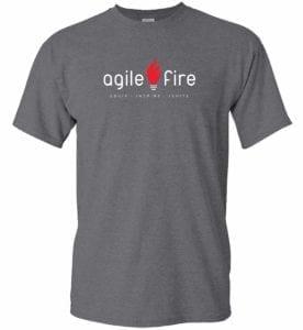 Unisex AgileFire T-shirt in Grey