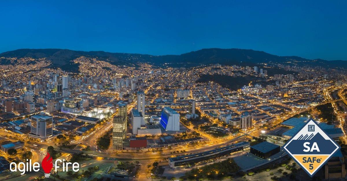Medellin Columbia Skyline SAFe SA Certification