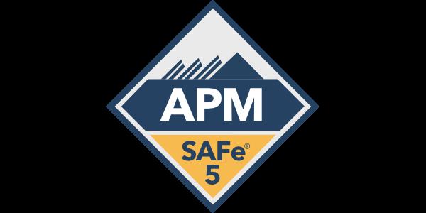 SAFe 5 APM certification badge