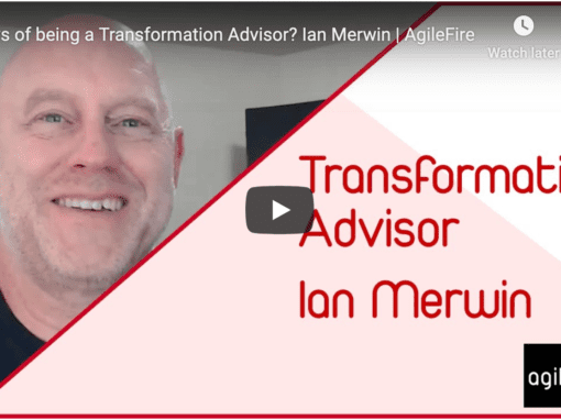 Joys of Being a Transformation Advisor